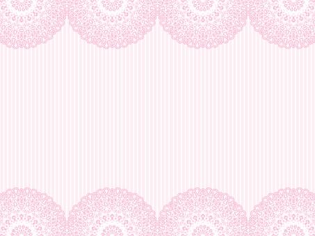 핑크 레이스 소재와 줄무늬 배경