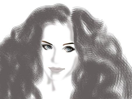 Long hair girl 03
