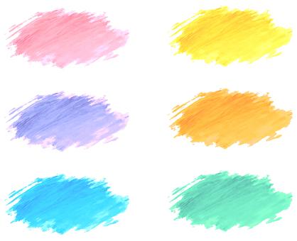 Watercolor decoration material