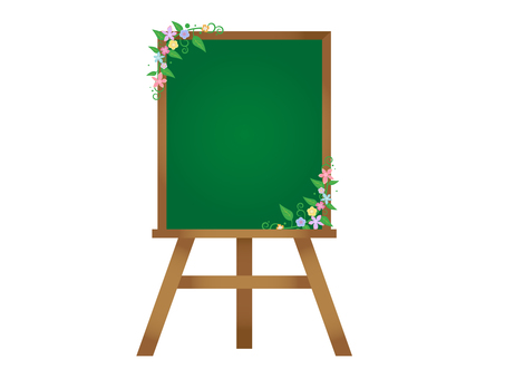 Easel flower (blackboard)