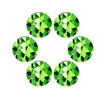 Round jewel - green