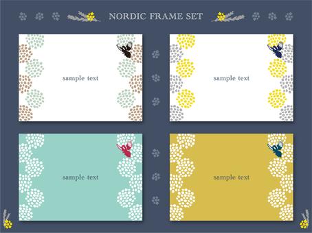 Scandinavian style dot frame set