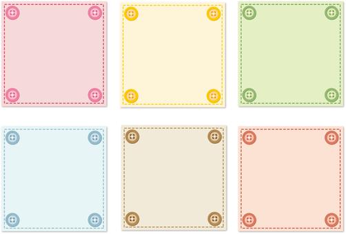 Button frame each color