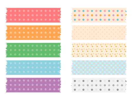 Various types of polka dots