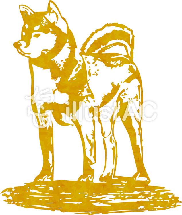 犬イラスト動物和風戌年干支日本年賀状正月イラスト No 929231無料