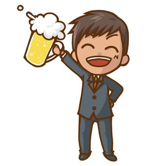 A man drinking a toast