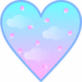 Weather heart Heart windows petals dancing