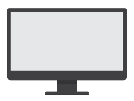 Illustration of display (black) of personal computer