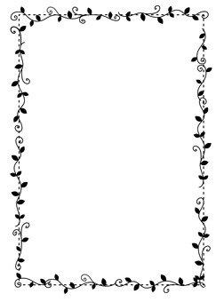 Black ivy frame