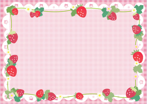 Strawberry gingham pattern background (pink)