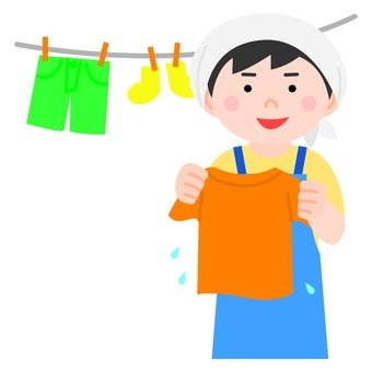 Men who hang the laundry