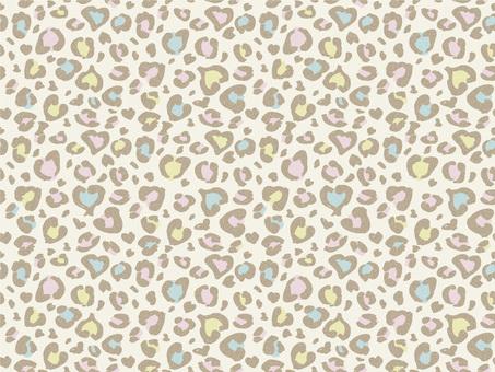 Heart's colorful leopard pastel 01