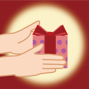 Image giving presents