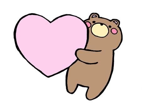Kuma and Heart 1 of 3