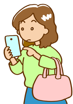Person who is crazy for smartphone