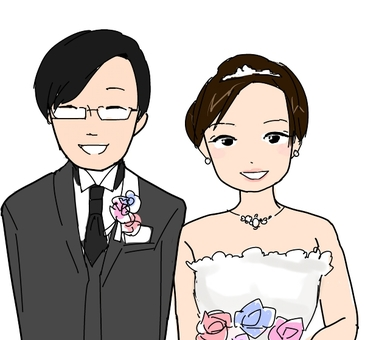 Wedding bride and groom