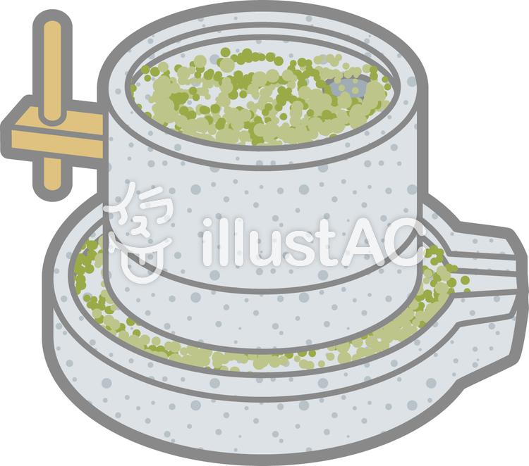 引き臼緑の粉イラスト No 1128526無料イラストならイラストac
