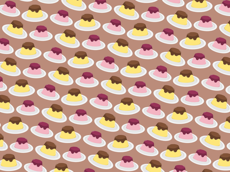 Pudding and strawberry pudding background