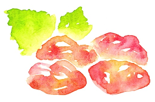 Raw meat chicken watercolor