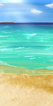 Sea (background) ②