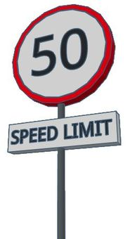 English speed limit sign
