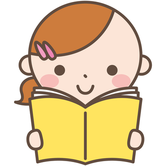 Girls 4 Reading reading cartoons books