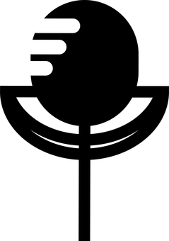 Illustration of stand microphone