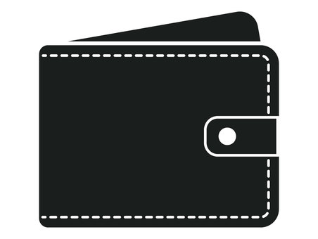 Wallet icon black and white