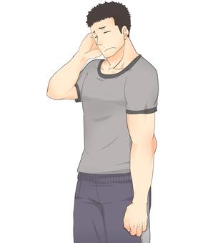 Short sleeve jersey men (哀)