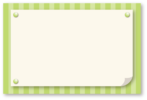 Stripe frame frame green