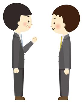Salary man conversation