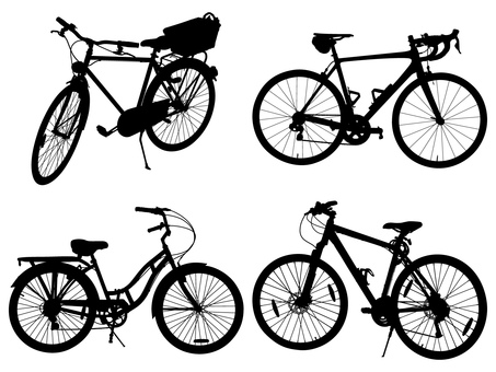 Silhouette-vehicle (bicycle)-001