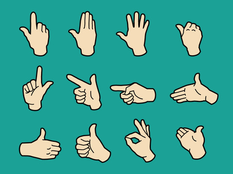 Hand and fingers · Hand sign · Skin color