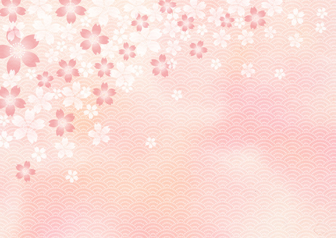 New Year _ and paper _ and handle _ 桜 background