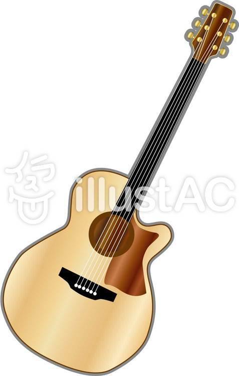 アコースティックギターイラスト No 270136無料イラストなら