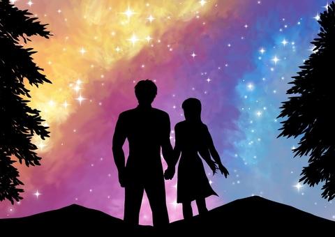 Romantic night sky