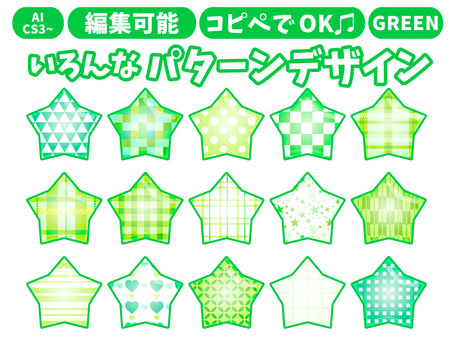 Various patterns Green