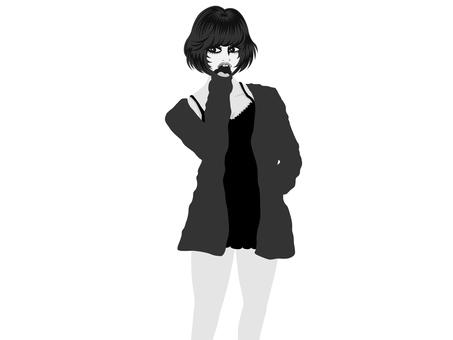 여성 모델