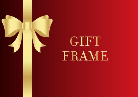 Gift frame 008 red