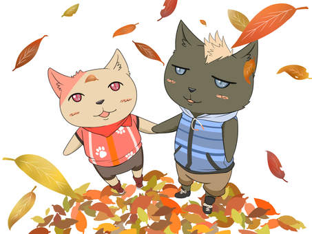 Autumn leaves and cats?