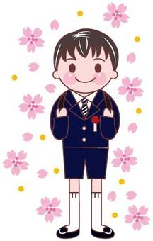 Elementary school entrance boys