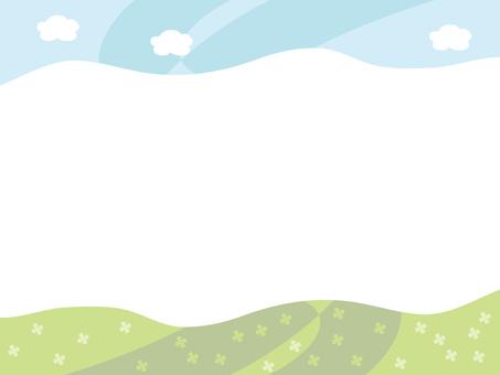 잔디와 하늘 프레임