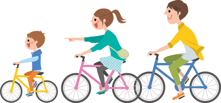 Cycling with parent and child