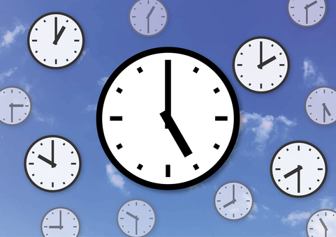 Time chased 5 o'clock time machine