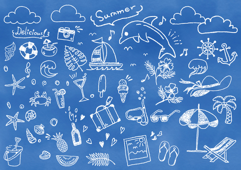 Summer illustration icon set
