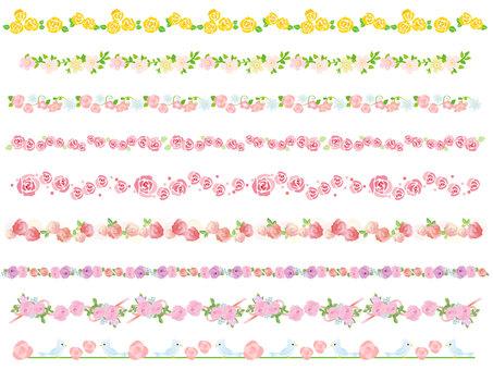 Rose decorative frame