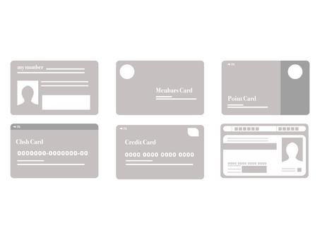 Various card materials