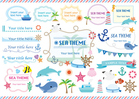 Frame material Sea theme