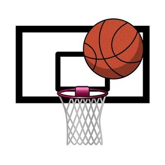 Basketball goals and basketball