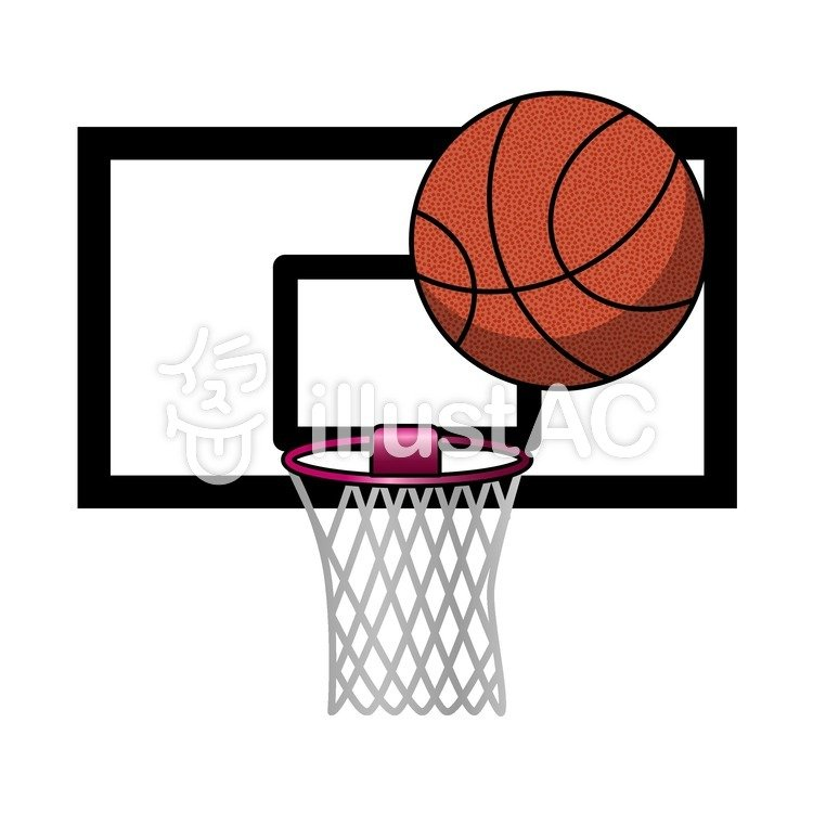 バスケットゴールとバスケットボールイラスト No 212775無料